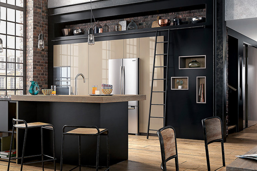 la cuisine industrielle vue par cuisinity cuisinity. Black Bedroom Furniture Sets. Home Design Ideas