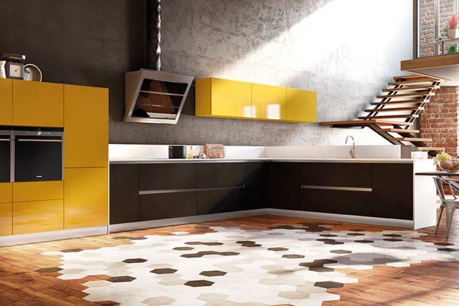 cuisine equipée loft angle Inova