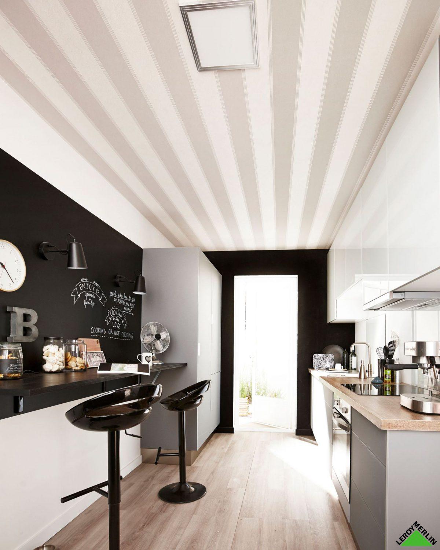 Papier peint pour couloir fashion designs - Papier peint pour cuisine tendance ...