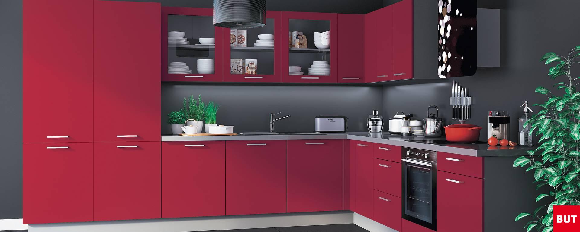 Cuisine couleur bordeaux brillant cuisine contemporaine 7 mod les de cuisin - Cuisine couleur bordeaux brillant ...