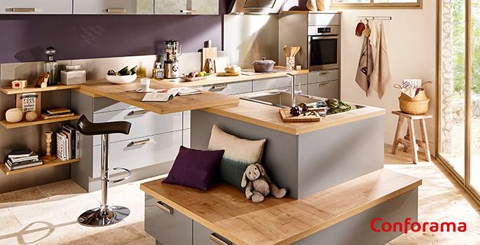 cuisines conforama nos 5 coups de c ur moins de 1200. Black Bedroom Furniture Sets. Home Design Ideas