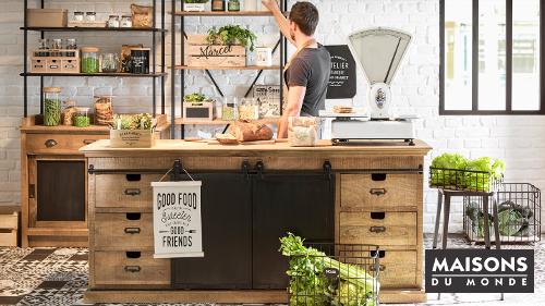 On Vous Présente Notre Coup De Coeur Du Moment : La Tendance Green Market  Signée Maisons Du Monde. Cette Cuisine Aspire à La Sérénité Et Au  Bien être, ...